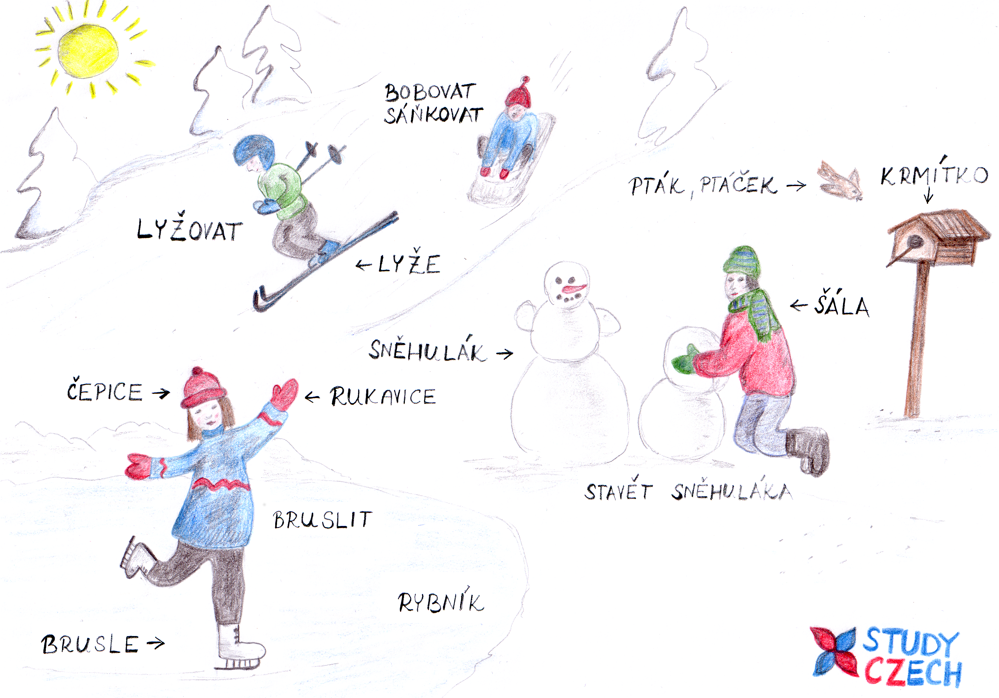 Winter vocabulary | StudyCzech